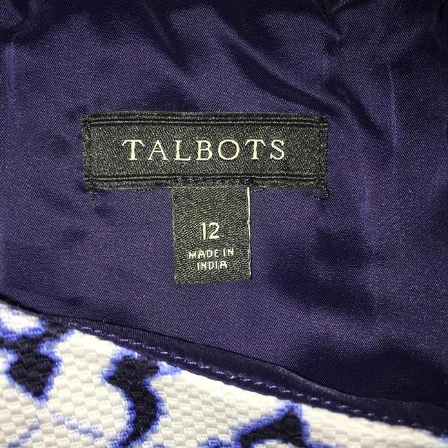 Talbots short dress navy blue, blue, and white on Tradesy Image 1