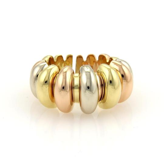 Preload https://img-static.tradesy.com/item/21288585/bvlgari-yellow-white-and-rose-gold-18k-tri-color-fancy-design-tapered-open-band-size-7-ring-0-0-540-540.jpg