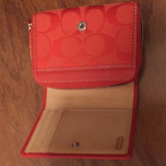 Coach Coral/Red Coach Leatherware Wallet