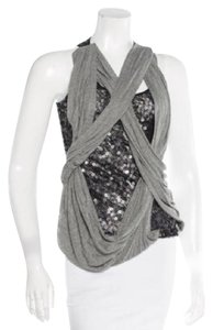 Robert Rodriguez Top grey jersey and black sequins