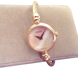 Gucci Gucci Gold & Mother of Pearl Bracelet Watch