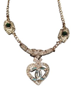Chanel NWT CHANEL New Eye Love CC Crystal Strass gorgeous necklace pendent