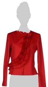 Valentino Classy Ruffles High End red Blazer