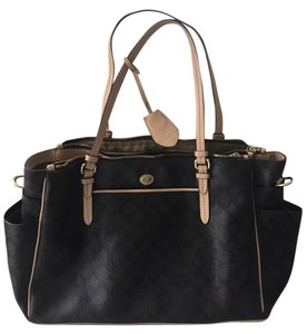 Coach Leather Brown Diaper Bag