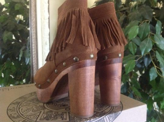Cordani Platform Clog Ankle Suede Five Worlds Honey Boots Image 2