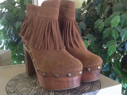 Cordani Platform Clog Ankle Suede Five Worlds Honey Boots Image 4