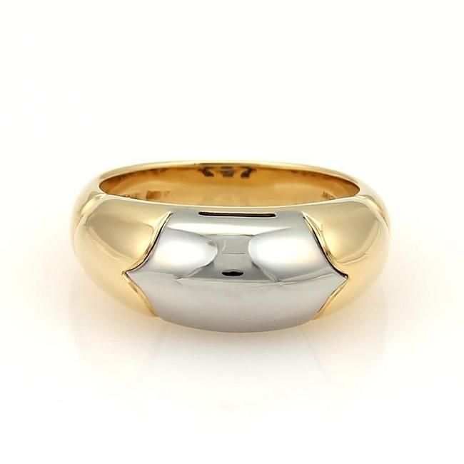 Item - Yellow Gold & Steel Tronchetto 18k Band Size 5.5 Ring