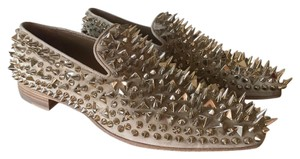 Christian Louboutin Red Bottom Loafer New Pierre / Silver Flats