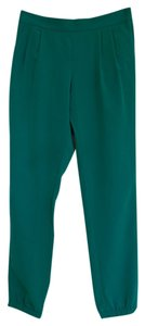 Topshop Relaxed Pants Green