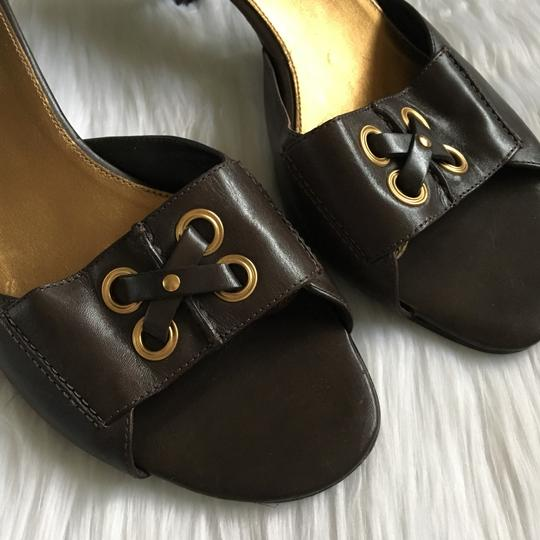 Cole Haan Brown, Gold Mules Image 1