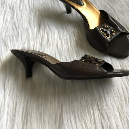 Cole Haan Brown, Gold Mules Image 2