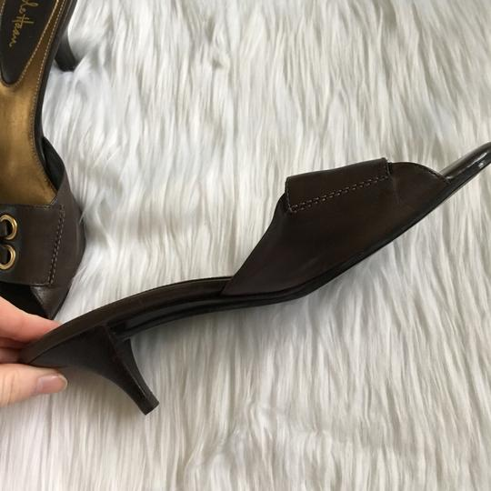 Cole Haan Brown, Gold Mules Image 3