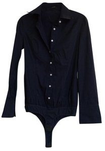 Theme Button Down Shirt Navy blue with white buttons
