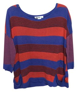 Kensie Top striped orange and blue