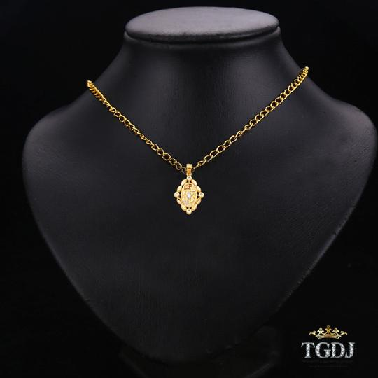 Top Gold & Diamond Jewelry Lucky Pendant, 14K Tri Color Lucky Pendant Image 2