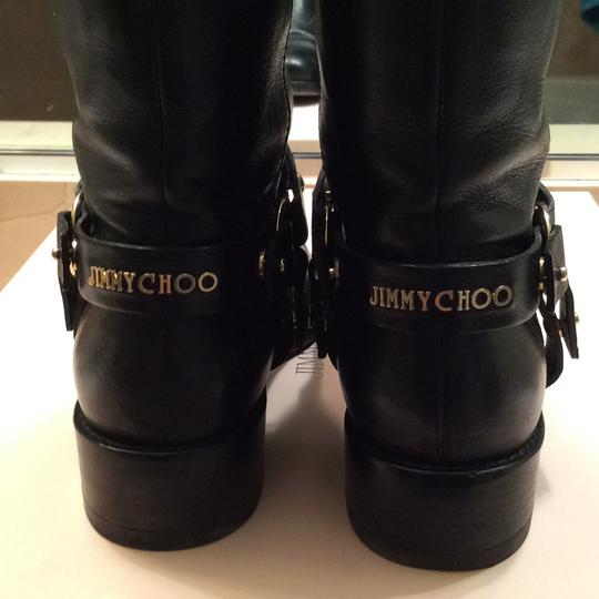 Jimmy Choo black with gold accessories Boots Image 3