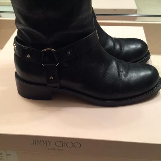 Jimmy Choo black with gold accessories Boots Image 4
