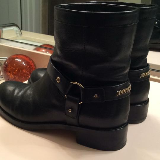 Jimmy Choo black with gold accessories Boots Image 5