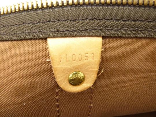 Louis Vuitton Brown and Silver Travel Bag