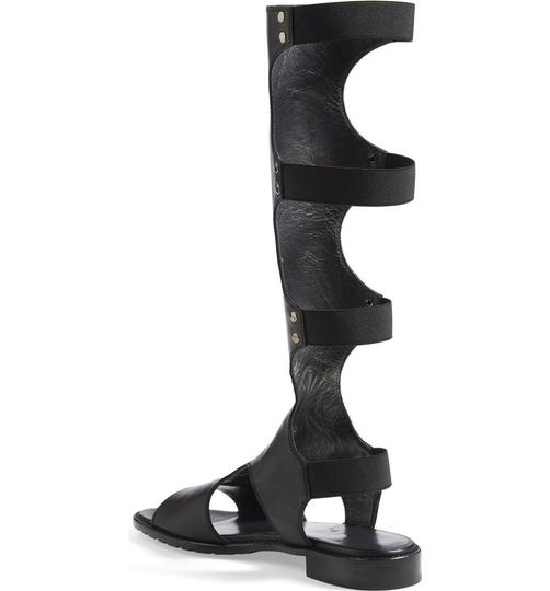 Stuart Weitzman Gladiator Boot BLACK LEATHER Sandals Image 5
