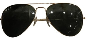 Ray Ban Aviators Polarized Womens Women's Aviators Green with Gold Frame. Excellant Condition. Polarized