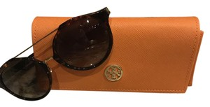Tory Burch Brand New Tory Burch Sunglasses with Turtoise and Gold Frame - womens