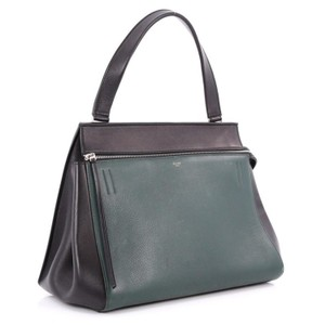Céline Oldceline New Hangbag Tote in Black and green