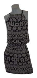 Nicole Miller short dress black and off white on Tradesy