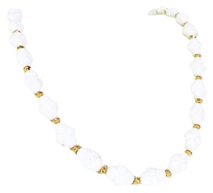 Trifari vintage lucite and gold tone beaded strand necklace by crown trifari