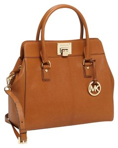 Michael Kors Leather Astrid Satchel in Brown