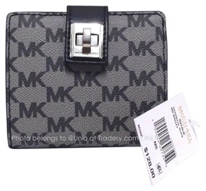 Michael Kors NWT MK Signature Mini Logo Bi-fold Natalie Wallet ID Card Holder