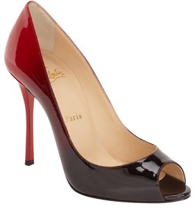 Christian Louboutin Red/Black Pumps