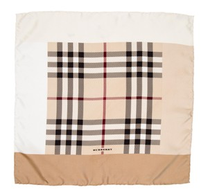 Burberry Creme, black, red Burberry London Nova check silk scarf