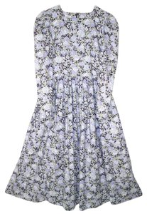 Maxi Dress by Laura Ashley Vintage Cotton Floral Garden Pleated