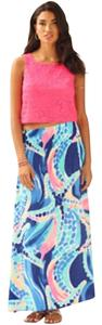 Lilly Pulitzer Maxi Skirt Blue with multicolor
