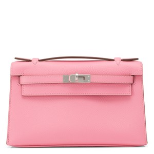Hermès Kelly Kelly Pochette Kelly Cut Pink Rose Confetti Clutch