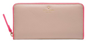 Kate Spade Cobble Hill Lacey Wallet 098689940540 Pwru4938 Pressed Powder / Flo Geranium Clutch