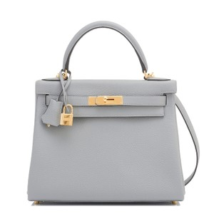 Hermès Kelly Kelly 28 Gris Tourterelle Kelly Shoulder Bag