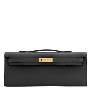 Hermès Kelly Kelly Cut Kelly Cut Pochette Black Clutch