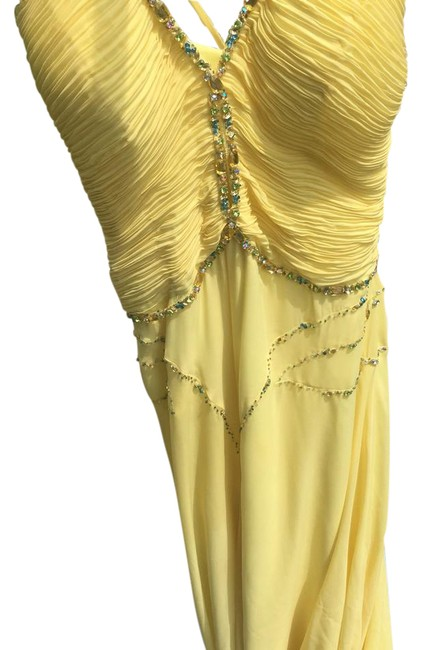 Preload https://img-static.tradesy.com/item/21290220/prom-dress-yellow-with-multi-colored-jewels-21290220-0-1-650-650.jpg