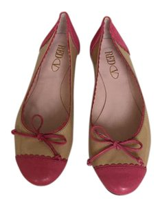 RED Valentino Feminine Cute Tan and Fuschia Flats