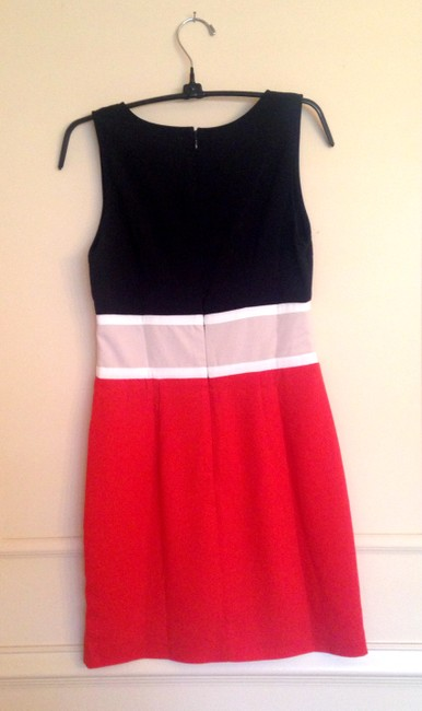C. Luce short dress black, orange, beige on Tradesy