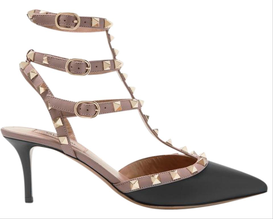 valentino marked down rockstud kitten heels in eu 37. Black Bedroom Furniture Sets. Home Design Ideas