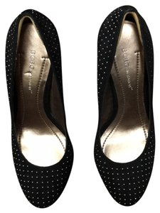 BCBGeneration Black with Silver Studs Platforms