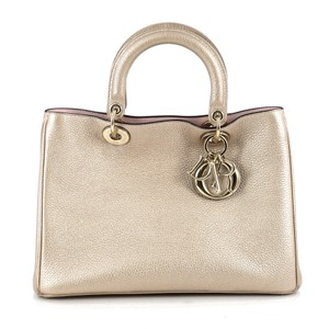 Dior Christian Diorissimo Leather Tote in gold
