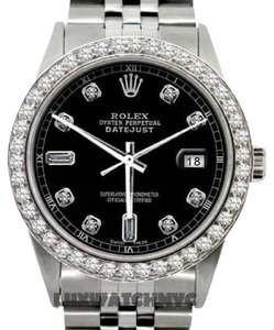 Rolex MEN'S ROLEX DATEJUST S/S 2.3CT DIAMOND WATCH W/ ROLEX BOX & APPRAISAL