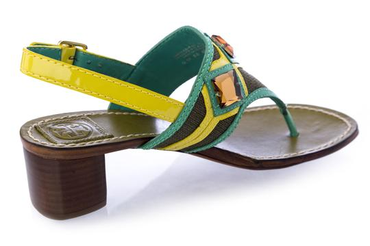Tory Burch Oil Green Sandals Image 1