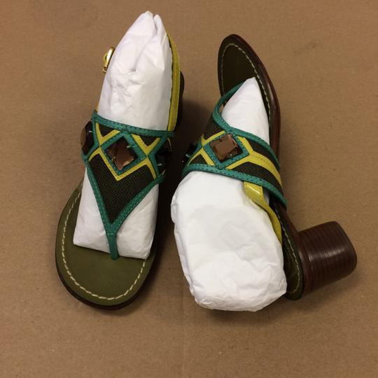 Tory Burch Oil Green Sandals Image 5