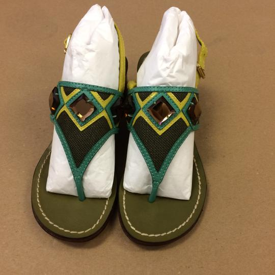 Tory Burch Oil Green Sandals Image 7