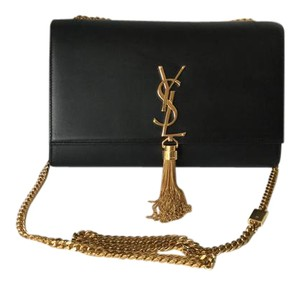 Saint Laurent Ysl Logo Tassel Leather Medium Size Cross Body Bag